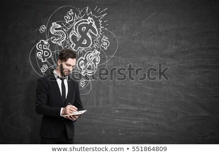 Blank blackboard with money Stock photo © Zerbor