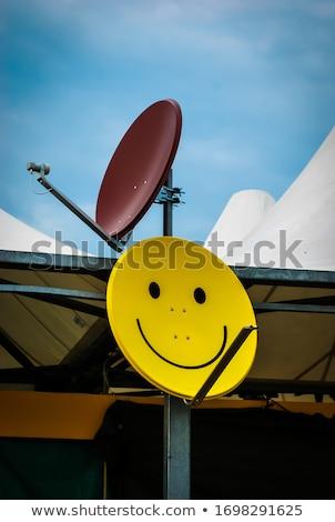 satellite dish on the house Stock photo © mayboro1964