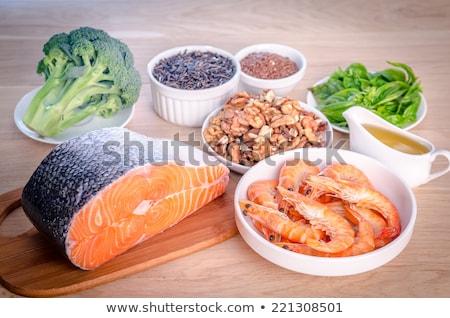 Stockfoto: Drie · broccoli · groene · witte · plantaardige · gezonde
