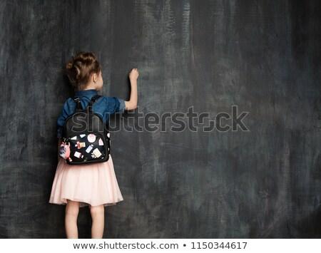 Cute piśmie Tablica czarny szkoły dziecko Zdjęcia stock © wavebreak_media