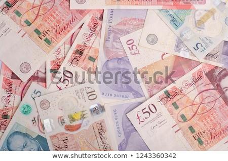 Részlet brit bankjegyek érmék bank stock Stock fotó © claudiodivizia