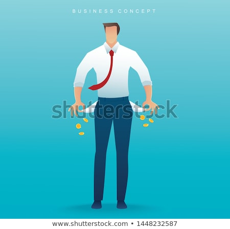 broke businessman showing his empty pockets stock photo © nito