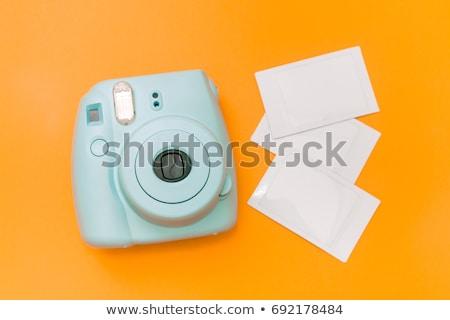 Azonnali kamera film fehér fekete retro Stock fotó © donatas1205