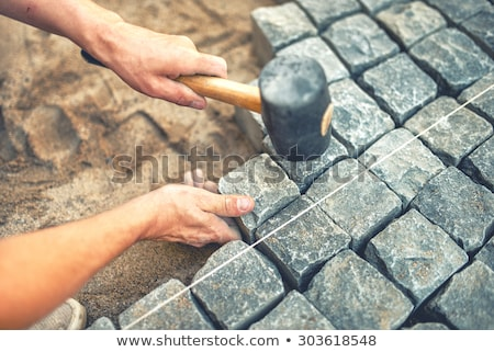 Laying of stones Stock photo © H2O