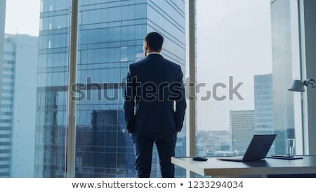 businessman with stand Stock photo © ambro
