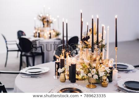 Verre chandelier gris design bougie couleur Photo stock © gavran333