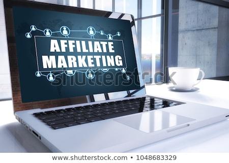 Affiliate Marketing Concept on Modern Laptop Screen. Stock photo © tashatuvango