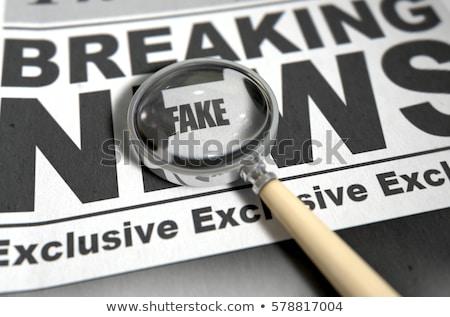 Podróbka papieru słowo podpisania dokumentu etykiety Zdjęcia stock © fuzzbones0