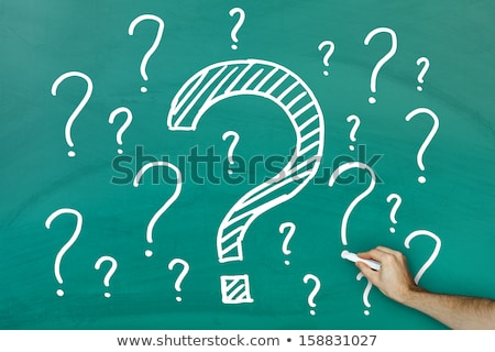 One Single Question Mark on Chalkboard Stock photo © make