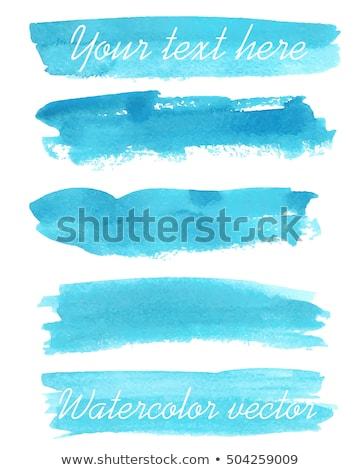 Szett élénk vízfesték ecsetvonások terv felirat Stock fotó © gladiolus