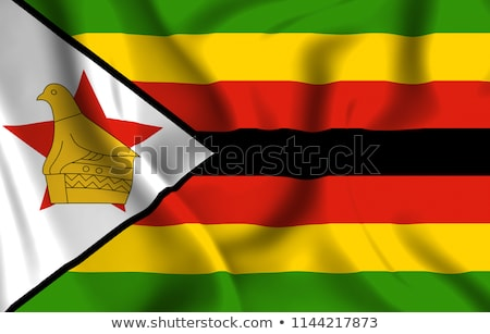 Waving flag of zimbabwe Stock photo © MikhailMishchenko