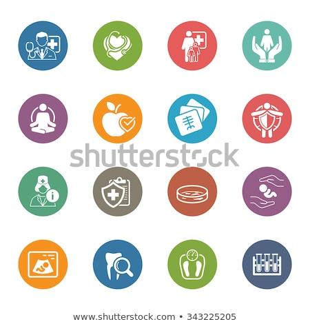 Radiológia orvosi szolgáltatások ikon terv izolált Stock fotó © WaD