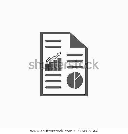 Financial report mark Stock photo © fuzzbones0