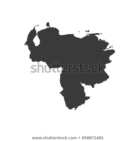 Térkép Venezuela fekete vektor izolált Stock fotó © rbiedermann