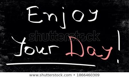 Oggi giorno manoscritto lavagna motivazionale citare Foto d'archivio © tashatuvango