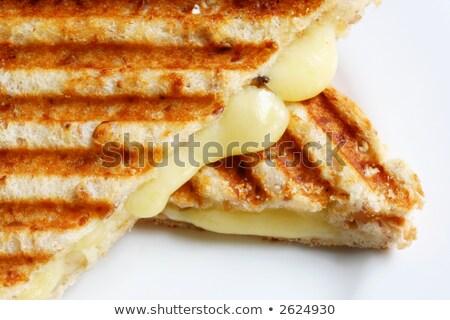 Tost sandviç et doldurma gıda bıçak Stok fotoğraf © marcrossmann