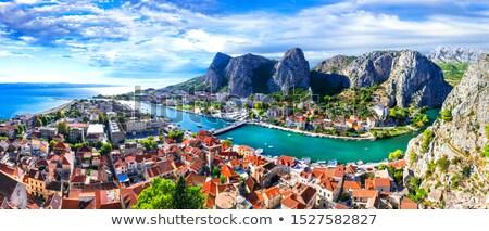 mer · Croatie · eau · faible · bateau · navire - photo stock © fisfra