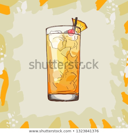 Beber cóctel oro ron pina jugo Foto stock © netkov1