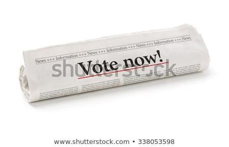 新聞 見出し 投票 今 ニュース ストックフォト © Zerbor