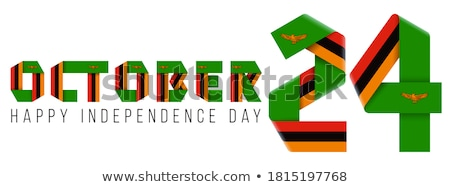 Zambia vidék zászló térkép forma szöveg Stock fotó © tony4urban