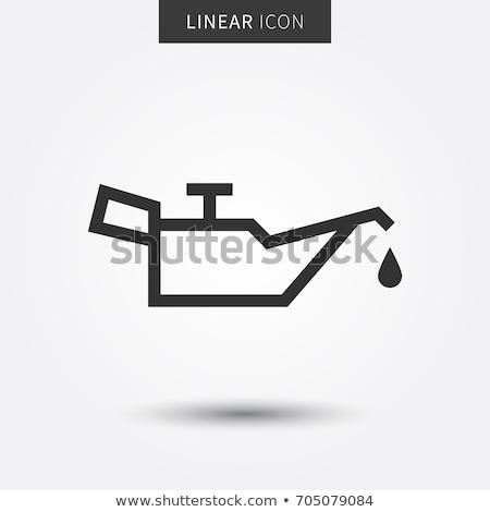 Oleju symbol stylizowany napis ropa naftowa produktów Zdjęcia stock © tracer