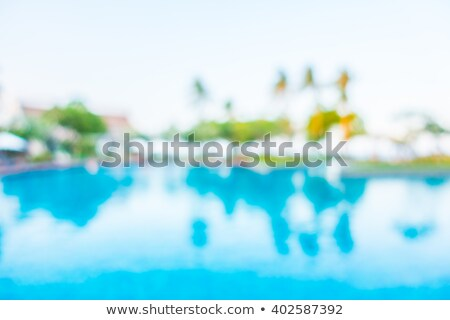 abstract blur outdoor swimming pool background stock photo © punsayaporn