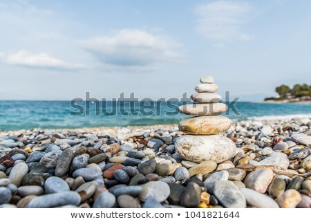 Sea coast with a stone Stock photo © Kotenko