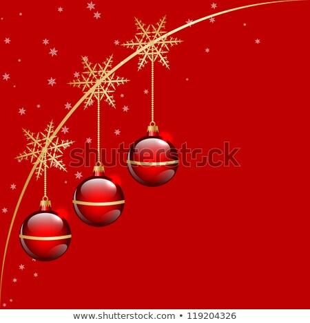 Christmas Rood abstract versie illustratie Stockfoto © Valeriy