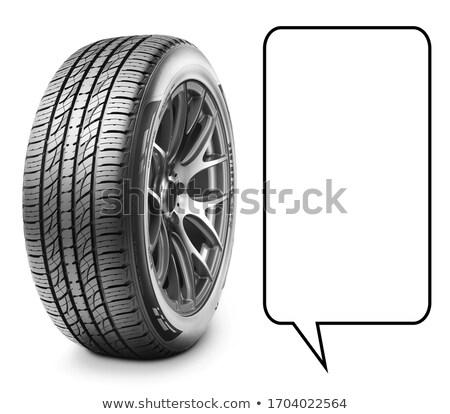 Foto stock: Coche · ruedas · neumáticos · blanco