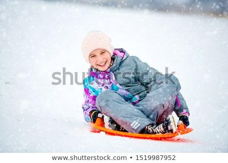 Kinder Kunststoff Park Winter Hand Baby Stock foto © Paha_L