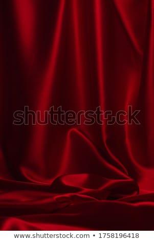vermelho · sedoso · abstrato · escuro · tecido · ondas - foto stock © es75