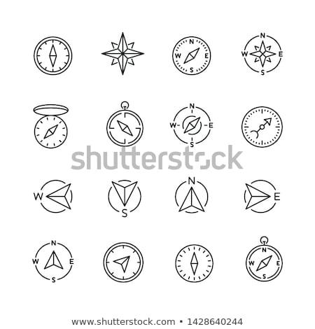 Kompas line ikona internetowych komórkowych infografiki Zdjęcia stock © RAStudio