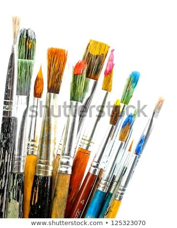 Red used paint brush Stock photo © homydesign