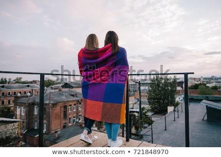 Kettő legjobb barátok fiatal lányok együtt iskola Stock fotó © dariazu