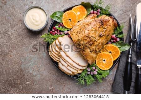 roast turkey breast on a plate stock photo © digifoodstock