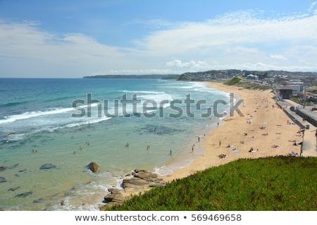 Bár tengerpart Newcastle Ausztrália sok tengerpartok Stock fotó © jeayesy