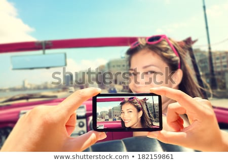 espelho · ver · sonolento · mulher - foto stock © deandrobot