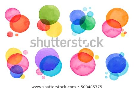 красочный точка искусства вектора графических иллюстрация Сток-фото © vector1st