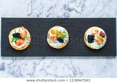 サワークリーム キャビア 前菜 クリーム チーズ ストックフォト © Klinker