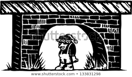 Stock photo: Bridge troll