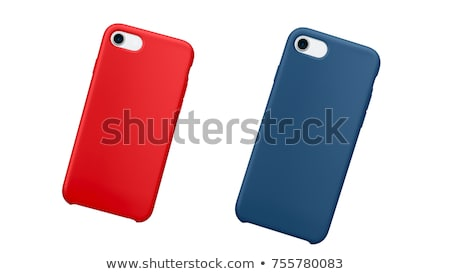 Smartphone Blauw geval 3D business Stockfoto © magann