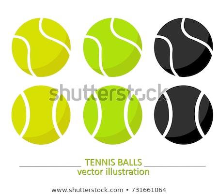 теннисный мяч теннисный корт трава спортивных мяча крупным планом Сток-фото © mikdam