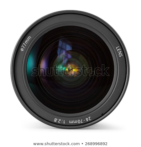 Camera lens over white Stock photo © vtls