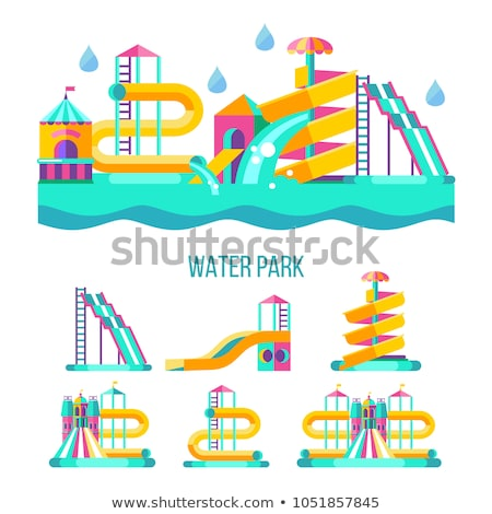 Slide parc illustration blanche enfants fond Photo stock © bluering
