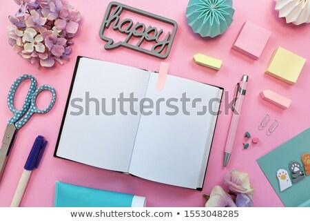 Comme texte notepad crayon rouge signe Photo stock © fuzzbones0