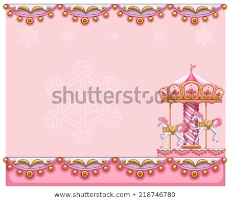 A stationery template with a merry-go-round ride Stock photo © bluering