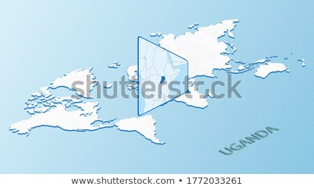Isometric map of Uganda detailed vector illustration Stock photo © tkacchuk