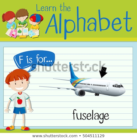 Flashcard letter F is for fuselage Stock photo © bluering