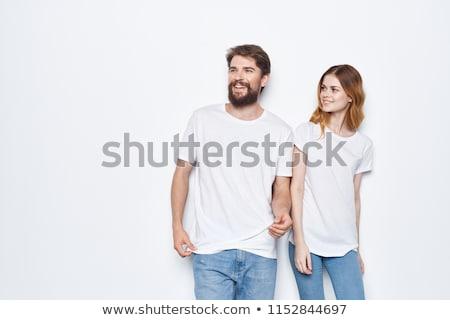 two beautiful girls in white shirts stock photo © svetography