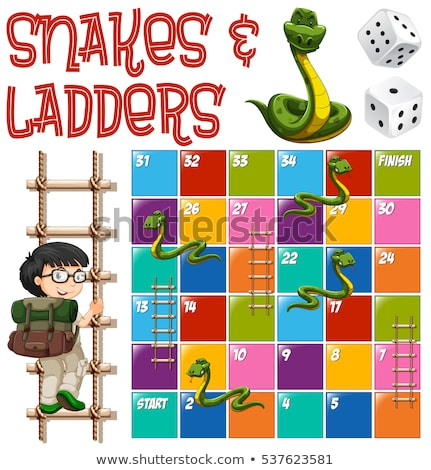 serpientes · juego · ninos · nino · serpiente · dibujo - foto stock © bluering